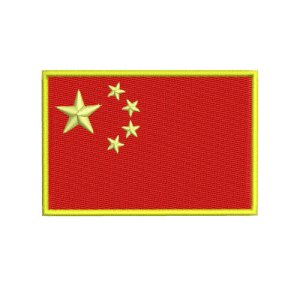 China Chinese Flag Embroidery Design