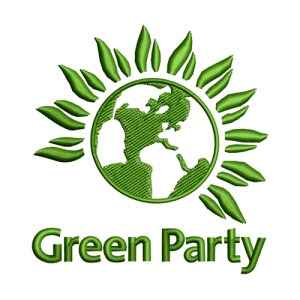 Green Party Political Embroidery Design