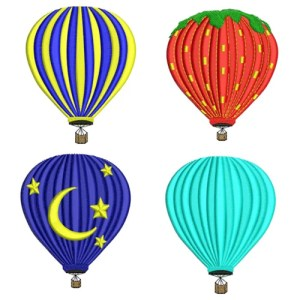 Hot Air Balloon Embroidery Design Discount Value Pack