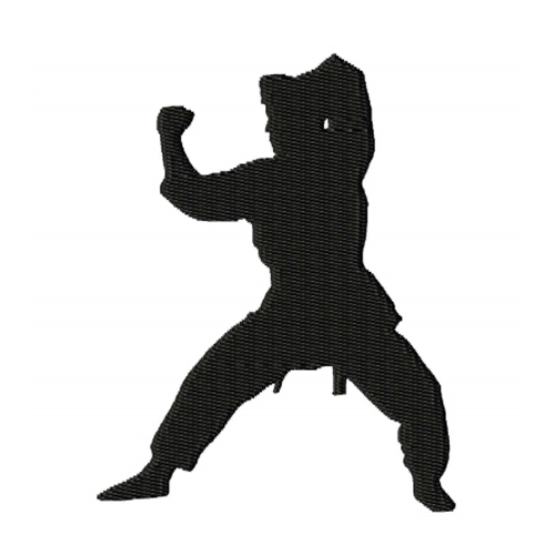 Karate Silhouette Embroidery Design 2