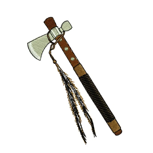 Native American Indian Tomahawk Embroidery Design 1