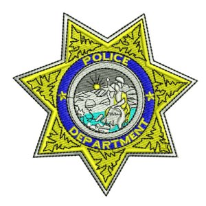 Police Department Badge Star 1 Embroidery Design