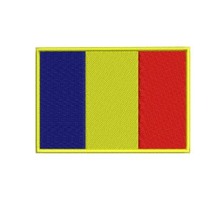 Republic of Chad Flag Embroidery Design