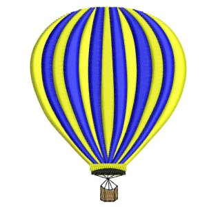 Two Tone Hot Air Balloon Embroidery Design