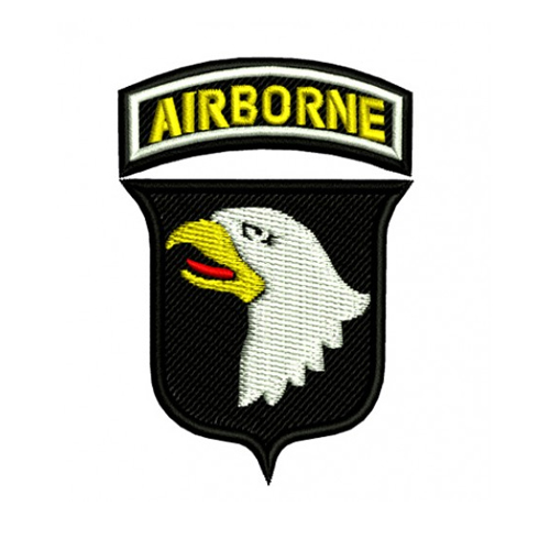 US Army Airborne Division Screaming Eagles Embroidery Design