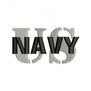 US Navy Logo Embroidery Design