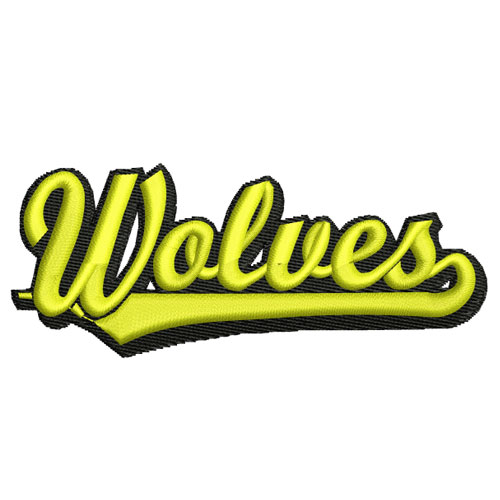 Wolves Athletics Sports Team Embroidery Design