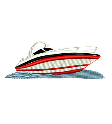 Yacht Day Cruiser Weekender Boat Embroidery Design