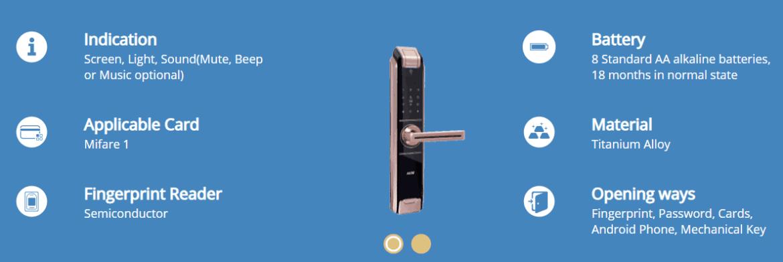 Smart Door Lock Fingerprint