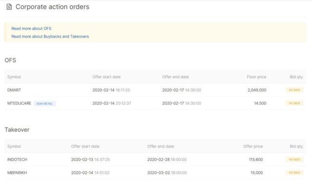Zerodha Upstox how to buy dmart ofs digitpatrox