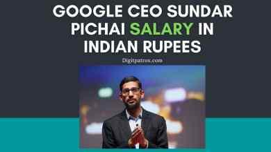 Google CEO Sundar Pichai Salary in Indian Rupees