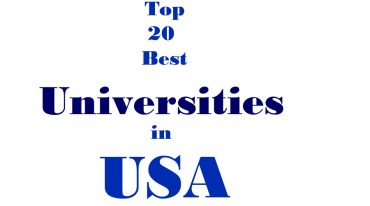 To 20 best universities in USA