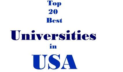 To 20 best universities in USA