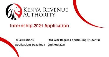 KRA Internship 2021 Applications