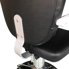 Black Salon Chairs Wingback Rocking Chair Barber Pole Reclining Hydraulic Station Beauty Spa Heavy Duty