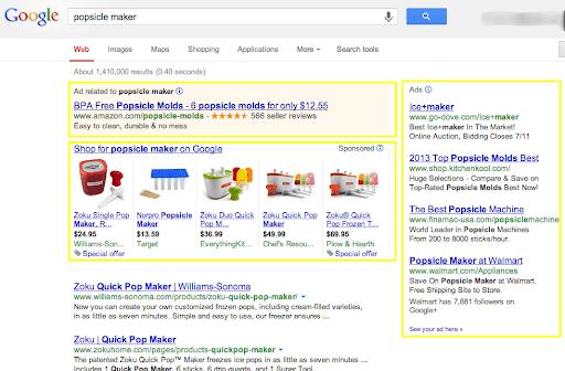 Google search engine ad