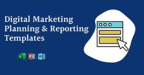 Digital Marketing Planning Spreadsheet xlxs + docx files