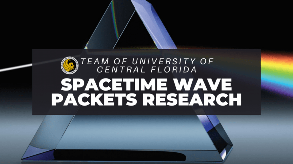 spacetime wave packet research