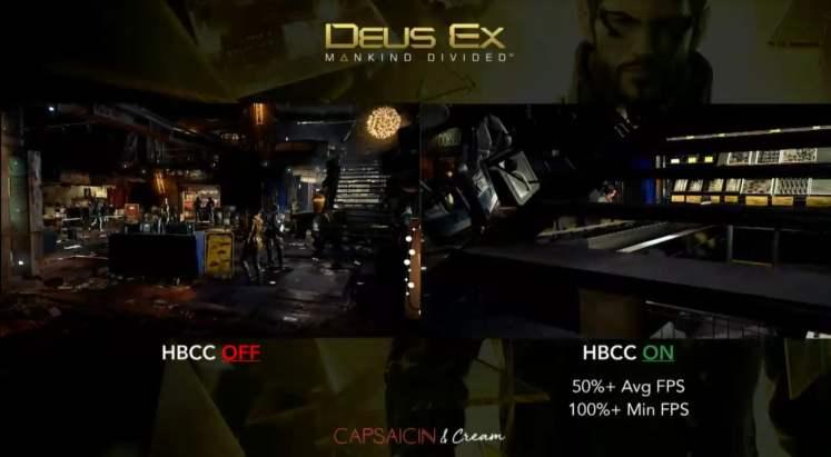Radeon RX Vega HBCC demo in Mankind Divided