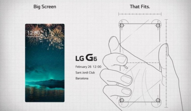 LG G6 front panel - MWC 2017 Invite