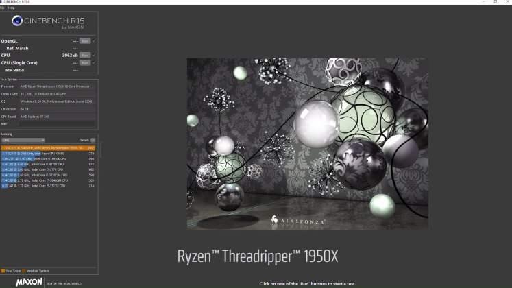 AMD Threadripper 1920X Cinebench R15