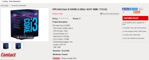 Intel Coffee Lake CPUs - Core i3-8350K pre-order