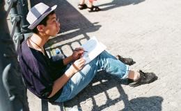 Un étudiant chinois à Berlin (Allemagne).