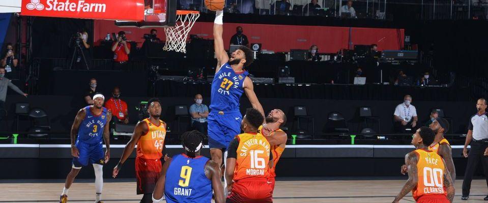 Un match de NBA sans public, en août 2020.