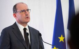 Le premier ministre Jean Castex, lors d'une conférence de presse sur le Covid-19.