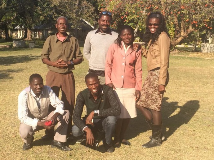 The team emerging in Northern Nambia with Bernard Witika who is helping them get started