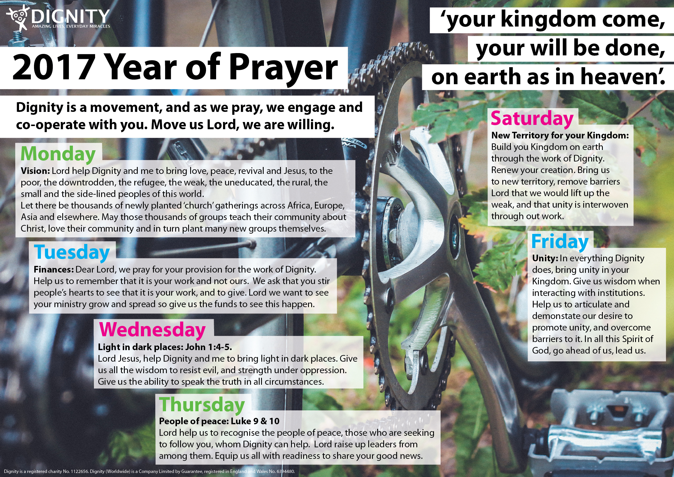 year of prayer pedal