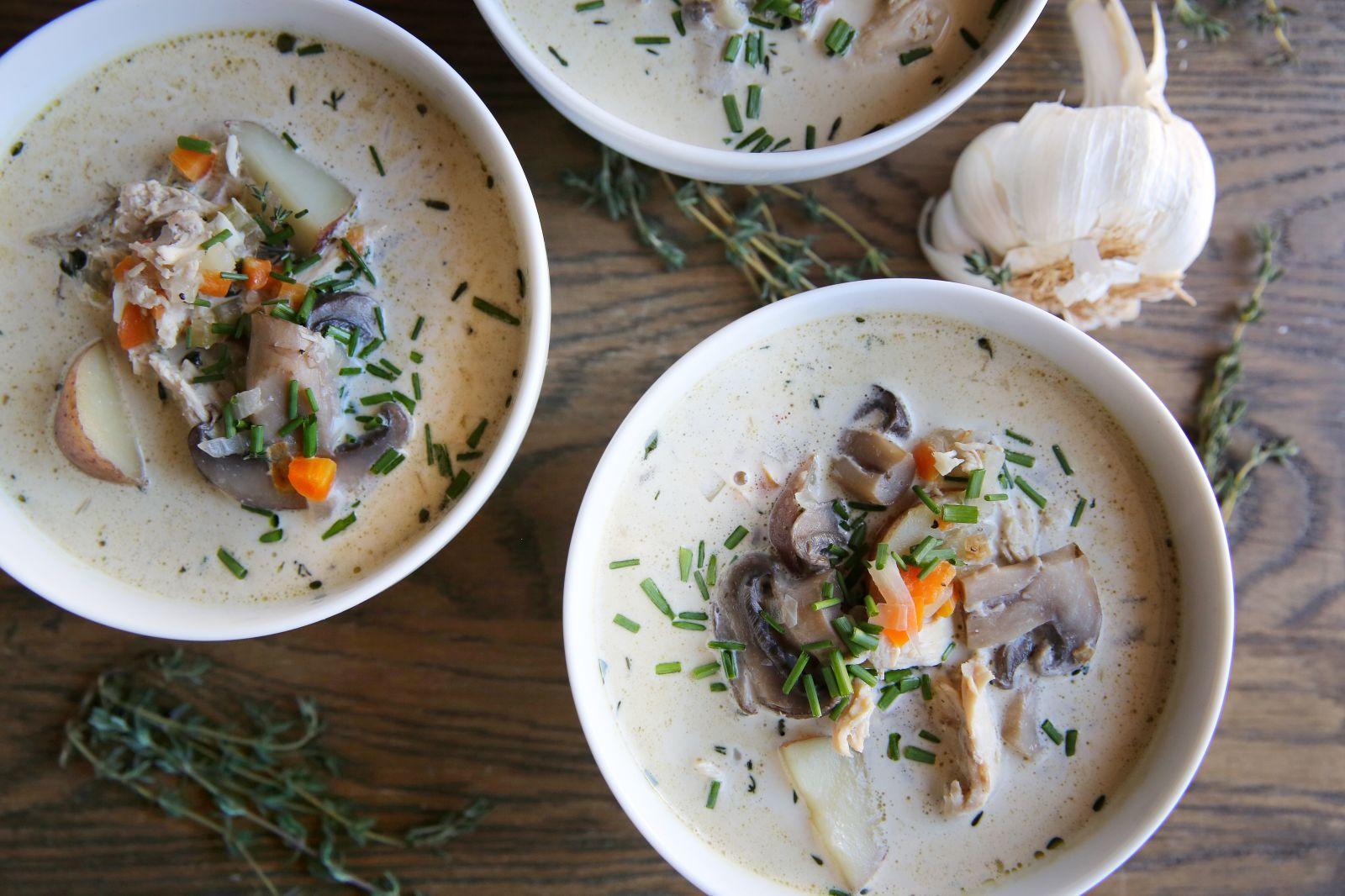 chicken-mushroom-chowder