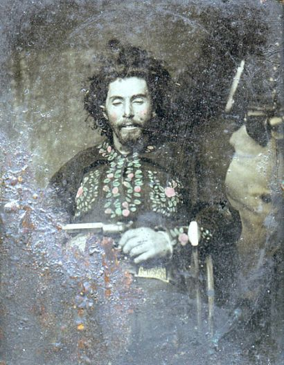 Bloody Bill Anderson, taken after his death on October 27, 1864, in Richmond, Missouri . Guerrilla warfare on the western front in the American Civil War. #civilwar #americanhistory