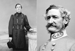 Union Colonel Edward Canby and Confederate Brigadier General Henry Hopkins Sibley, opponents in the Sibley Campaign. #civilwar #americanhistory #history