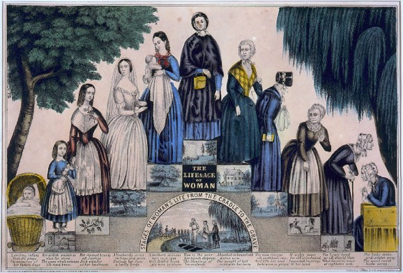 The doctrine of coverture deprived married women of legal status, merging her legal personhood with her husband's. Today we'll get into the complex ways that the doctrine of coverture shaped the lives of married women in the British Isles from the 11th to the 19th centuries. An illustration depicting the life of a woman from cradle to grave, with the highest point being middle-aged motherhood
