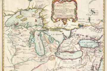 An antique map of the french colonial great lakes
