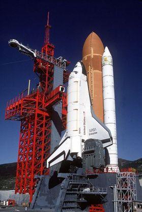 a color photograph of the shuttle Enterprise