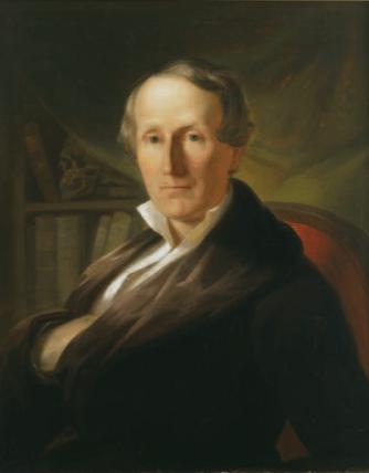 A painting portrait of Samuel George Morton