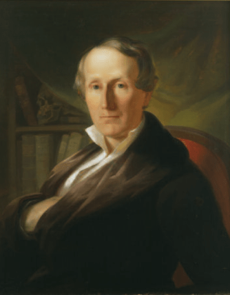 A painting portrait of Samuel George Morton