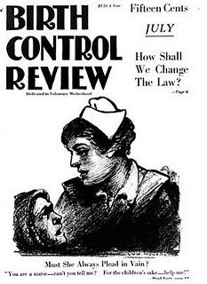 black and white cover of the Birth Control Review