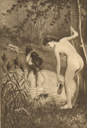 "Illustration from Fanny Hill, ""The Bathing Party, by Éduoard-Henri Avril"