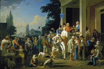 George Caleb Bingham, The Country Election. Painting of drunk voters.