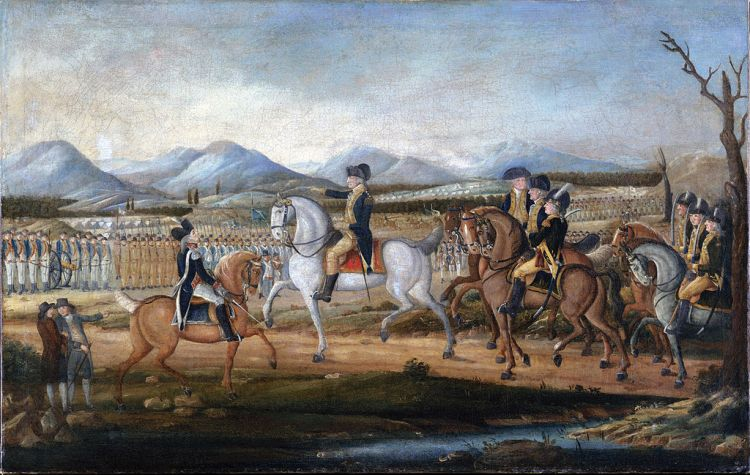 George Washington on his horse. The Whiskey Rebellion.
