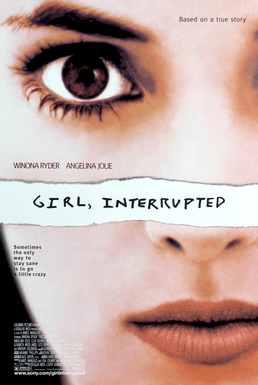 The original movie poster for Girl, Interrupted, the film adaptation of Susannah Kaysen's memoir of her time in McLean Hospital.