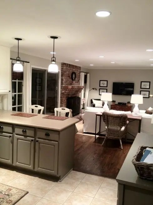 Small Kitchen To Living Room Transition Novocom Top