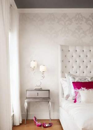 bedroom girly wall accent walls bedrooms patterned teen paper rooms designs contemporary perfect adds decor decorate guide delicate dimension nice