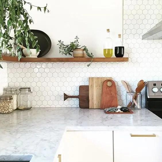Kitchen With Hexagon Backsplash Novocom Top