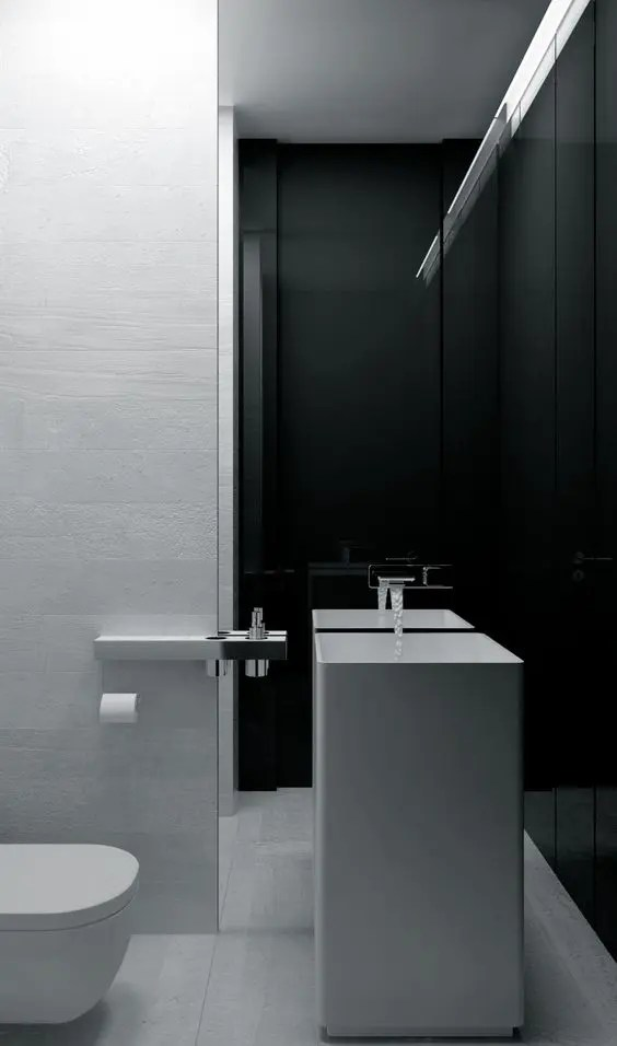 Grey Black And White Bathroom Design 33 Modern Pedestal Bathroom Sinks To Make A Statement