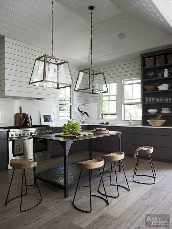 Oversized Industrial Pendant Light 33 Masculine Kitchen Furniture Ideas That Catch An Eye