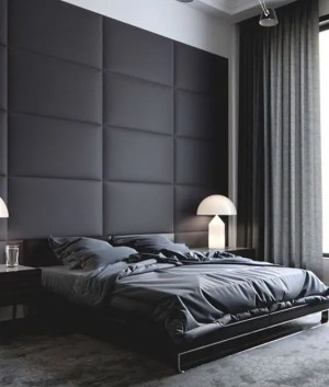 wall decor masculine walls bedrooms moody upholstered softness brings comfort space digsdigs stylish